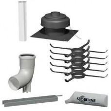 Bazinis paketas sachtai (metalas/PPs, kietas), dvitraukiems kaminams DN 60/100 Viessmann 7502679