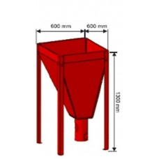 Granulių talpa 600x600 120 kg.