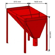 Granulių talpa 815x815 220 kg.
