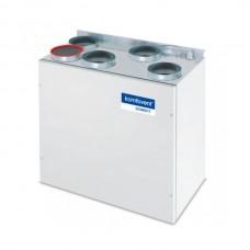 Rekuperatorius Komfovent Domekt-R-200-V-HE, kondensacinis, automatika C4, dešininis, su el. šildytuvu, be valdymo pulto, M5/M5 filtras, Vertikalus